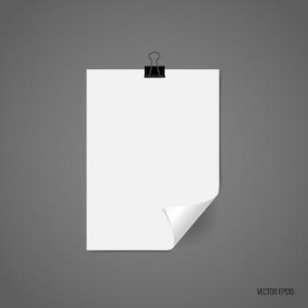 Biała kartka papieru projektowania
