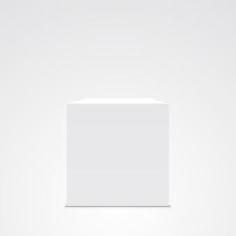 Biała kostka. pudełko. .