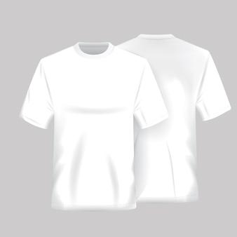 Biała koszula szablonu