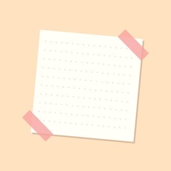 Biała kropkowana naklejka dziennika z notatnikiem