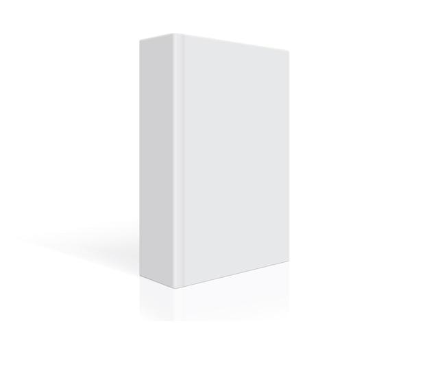 Biała książka z grubą okładką na białym tle