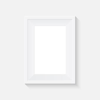 Biała makieta ramki plakatowej