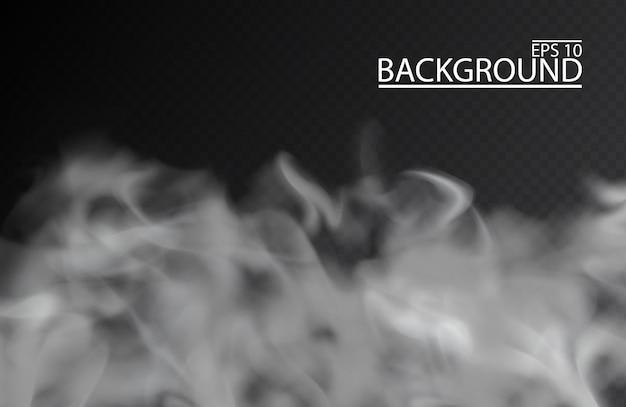 Biała Mgła Lub Dym Premium Wektorów