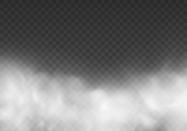 Biała mgła tekstura na przezroczystym tle ilustracja tekstury pary