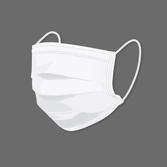 Biała na białym tle maska na twarz