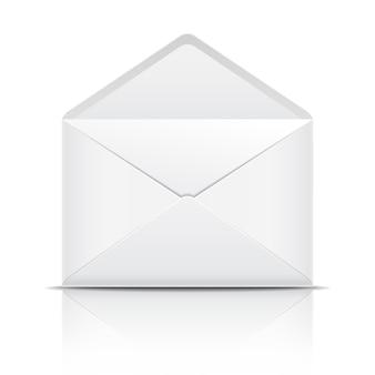 Biała otwarta koperta. ilustracja