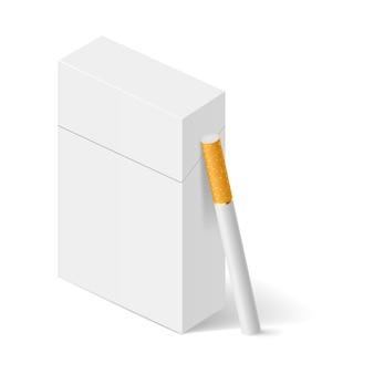 Biała paczka papierosów