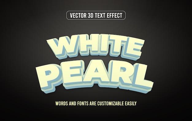 Biała perła efekt tekstu 3d