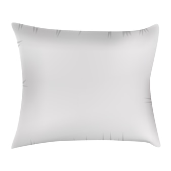 Biała poduszka ikona.
