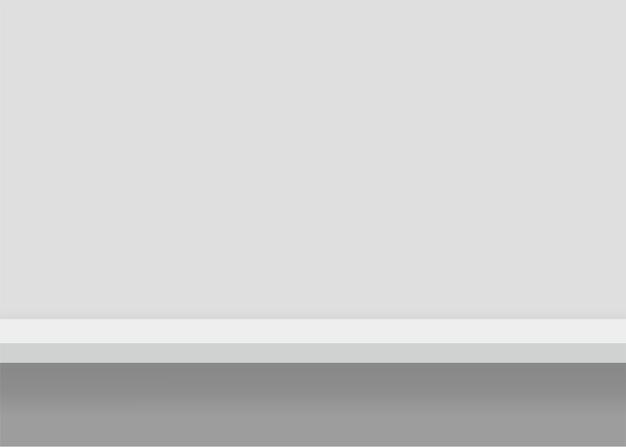 Biała półka meblowa. tło z bezszwowymi krawędziami. ilustracja