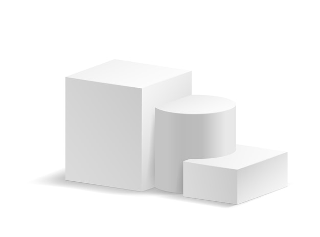 Biała prezentacja na podium 3d dla produktu, sprzedaży promocyjnej, banera, prezentacji, kosmetyku, oferty