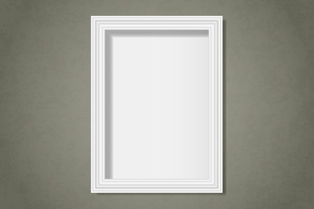 Biała pusta rama na ścianie