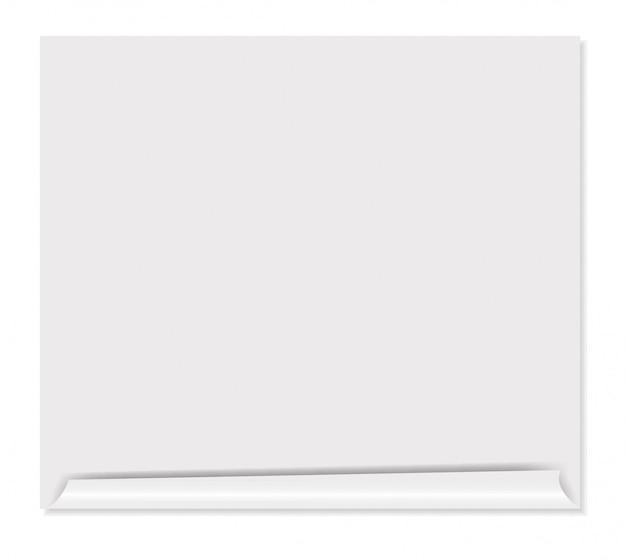 Biała pusta strona ilustracji