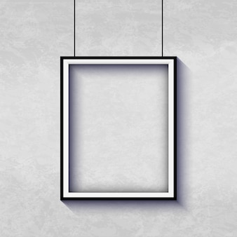 Biała ramka do pokazania sztuki
