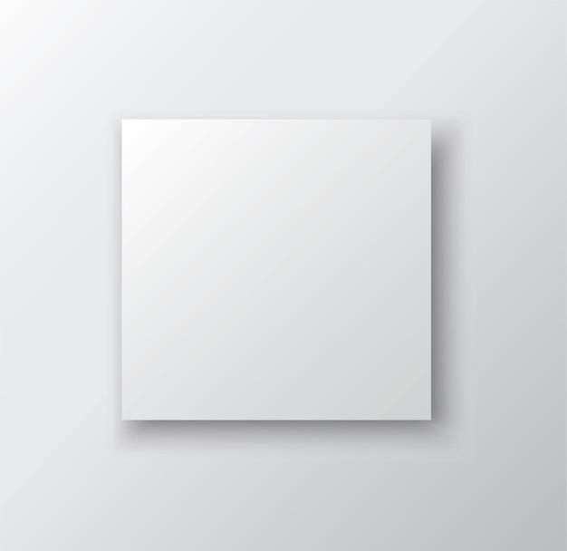 Biała ramka na białym tle