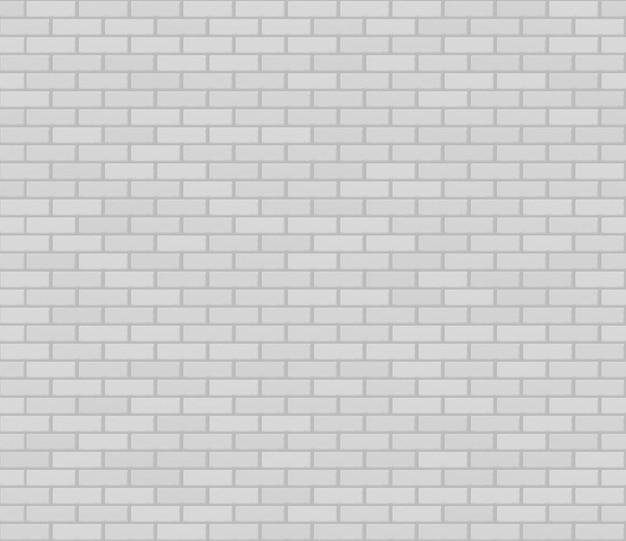 Biała realistyczna bezszwowa ściana z cegieł tekstura.