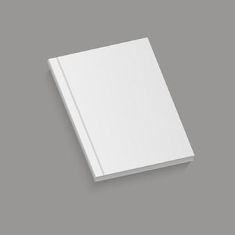Biała realistyczna pusta broszura.