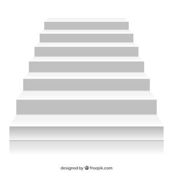Biała schody