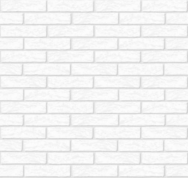 Biała ściana z cegieł tekstura bezszwowa