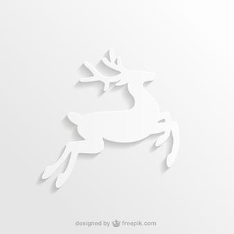 Biała sylwetka renifera