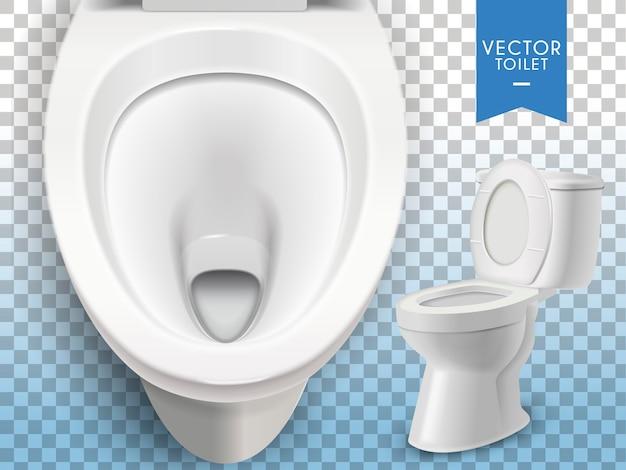 Biała toaleta na przezroczystym tle
