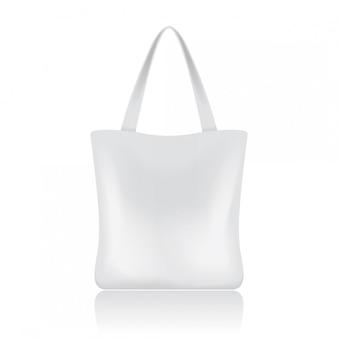 Biała torba na zakupy dla twojej marki. szablon pakietu