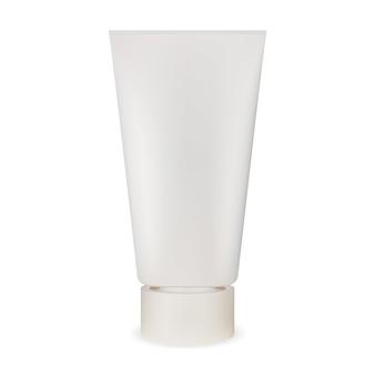 Biała tubka do kremu. realistyczny pakiet kosmetyczny