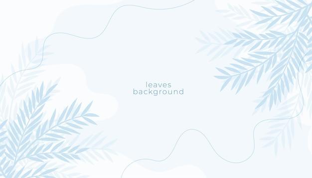 Biała z dekoracją w liście