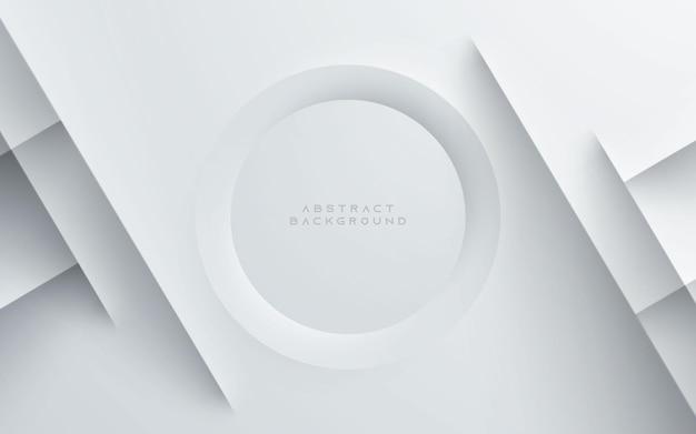 Białe abstrakcyjne geometryczne tło kształt koła