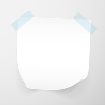 Białe arkusze papieru firmowego na przezroczystym tle. karteczki samoprzylepne.