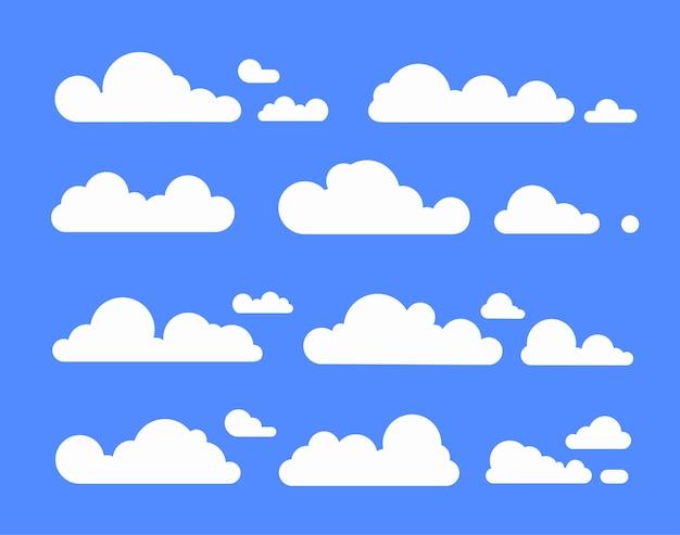 Białe chmury ustawiają kreskówkę błękitnego nieba dla krajobrazu