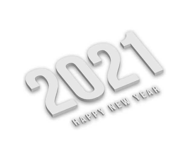 Białe dane nowego roku z cieniami.