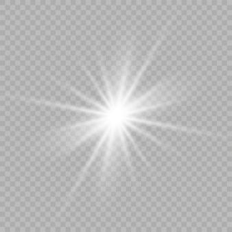 Białe gwiazdy, światło, refleksy, brokat, błysk słoneczny, iskra.