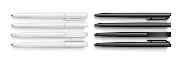 Białe i czarne pióro na białym tle
