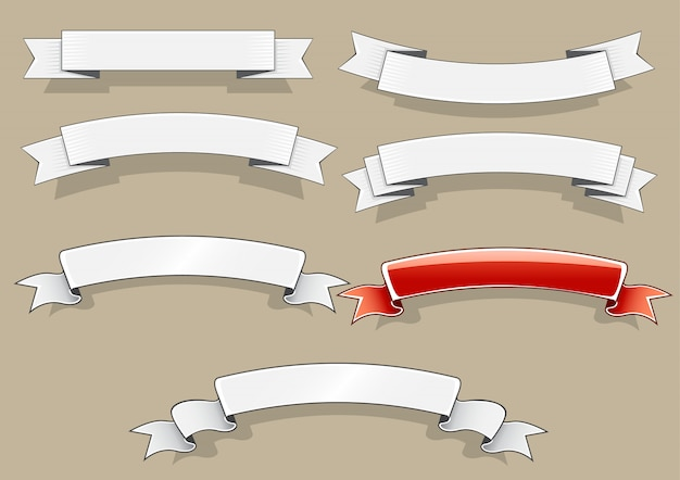 Białe i czerwone banery