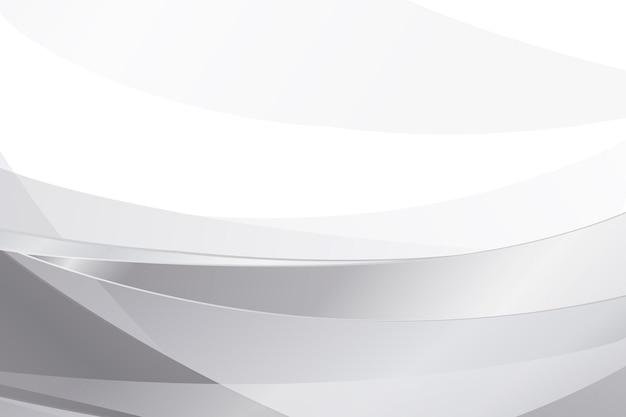 Białe i szare tło gradientowe z falami