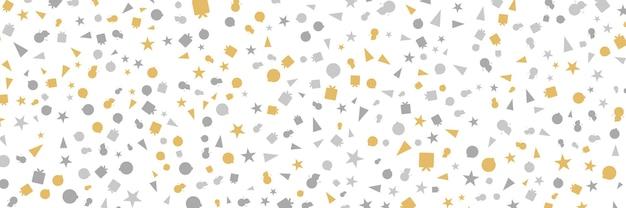 Białe i złote bezszwowe obramowanie płatka śniegu boże narodzenie projekt na kartkę z życzeniami ilustracja wektorowa merr...