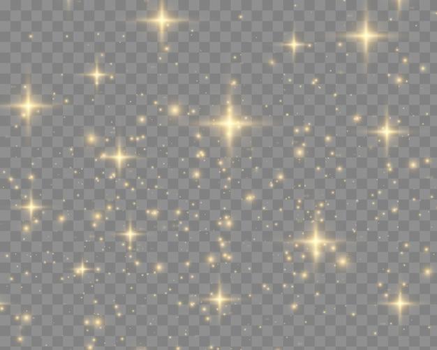 Białe iskry błyszczą specjalnym efektem świetlnym