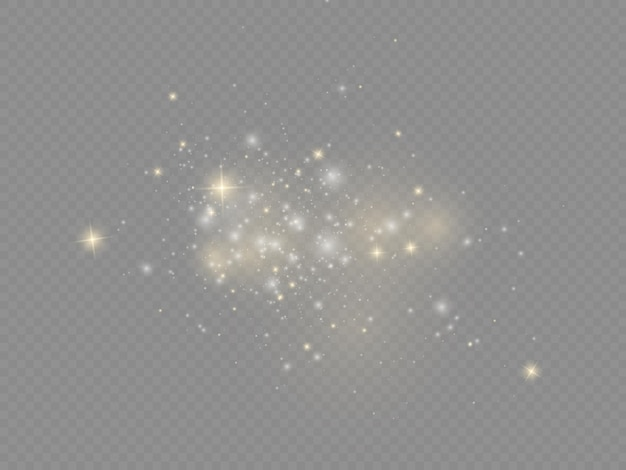 Białe iskry gwiazda świecą świąteczny blask efekt świetlny musujące magiczne cząsteczki kurzu błyszczą