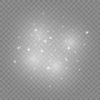 Białe iskry i złote gwiazdy świecą specjalnym światłem.