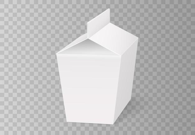 Białe kartonowe pudełko na fast food, opakowanie na lunch, chińskie jedzenie.