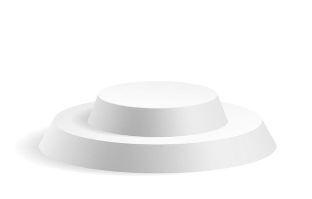 Białe koło podium szablon