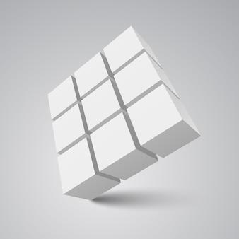 Białe kostki. ilustracja.