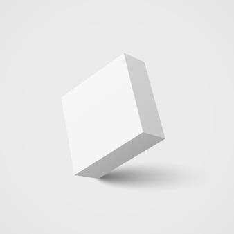Białe kwadratowe pudełko.