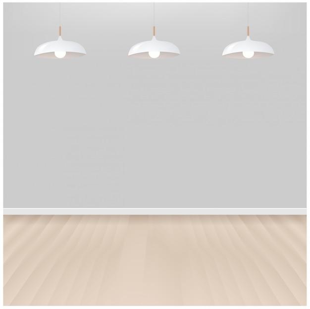 Białe lampy wiszące we wnętrzu