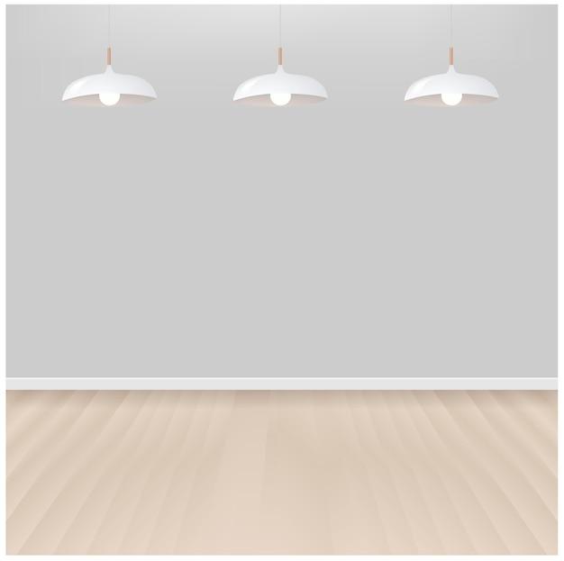 Białe lams z szarym tłem z siatką gradientu