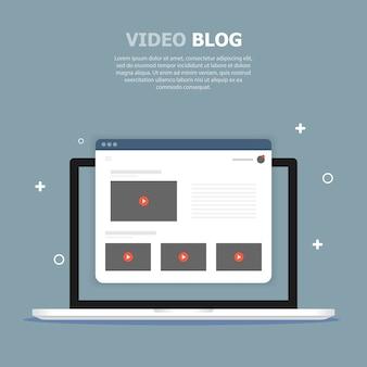Białe okno wideo jest przedstawione na niebieskim ekranie na ekranie komputera. powyżej napisano biały tekst.