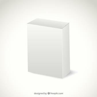 Białe opakowanie kartonowe