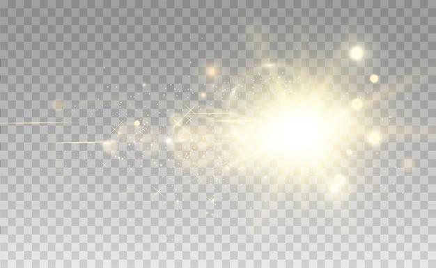 Białe, piękne światło eksploduje przezroczystą eksplozją jasna ilustracja wektorowa dla perfekcji