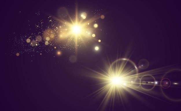 Białe, Piękne światło Eksploduje Przezroczystą Eksplozją Jasna Ilustracja Wektorowa Dla Perfekcji Premium Wektorów